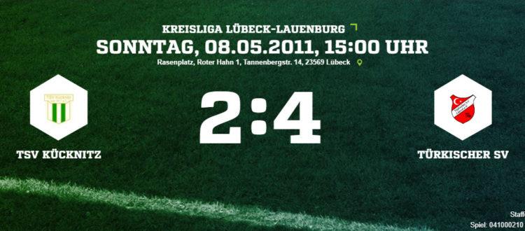 TSV Kücknitz - Türkischer SV 2-4