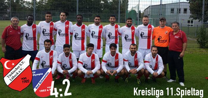 11. Spieltag: Türkischer SV - SV Olympia Bad Schwartau 4:2