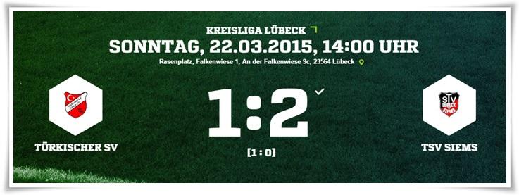 22. Spieltag: Türkischer SV - TSV Siems 1:2