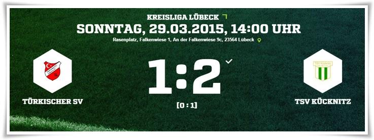 23. Spieltag: Türkischer SV – TSV Kücknitz 1:2