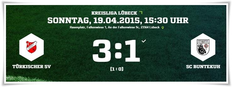 25. Spieltag: Türkischer SV - SC Buntekuh 3:1