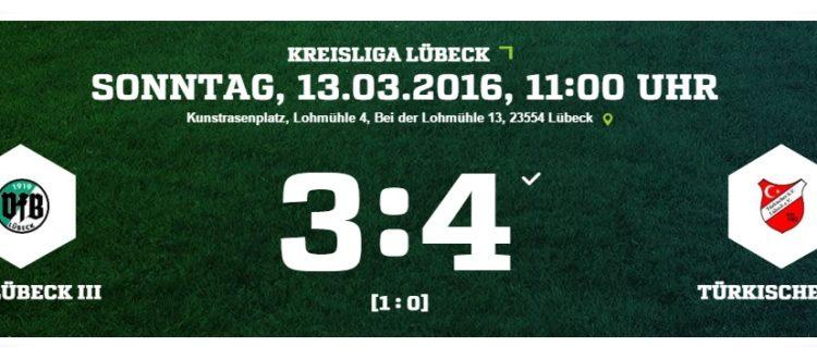 21. Spieltag VFB Lübeck - Türkischer SV