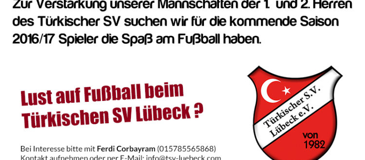 Spielersuche Türkischer SV Lübeck 2016-17
