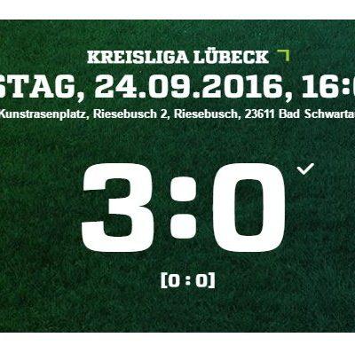 9. Spieltag Kreisliga VFL Bad Schwartau - Türkischer SV Lübeck 3-0