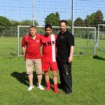 Kreisliga Aufsteiger 2013-2014 - Türkischer SV Lübeck Trainer Mustafa Bayrak, Präsident Ferdi Corbayram und Spieler Hakan Zehir
