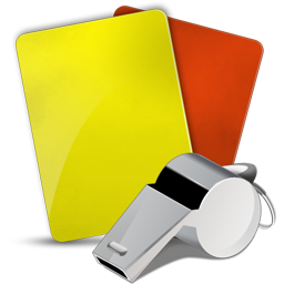 Fußball Schiedsrichter Icon, gelbe karte, rote karte