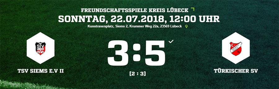 Testspiel TSV Siems II - Türkischer SV Lübeck