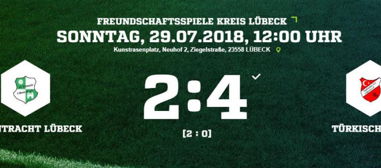 Testspiel: Eintracht Lübeck - Türkischer SV 2:4