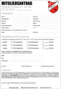 Mitgliedsantrag Türkischer SV