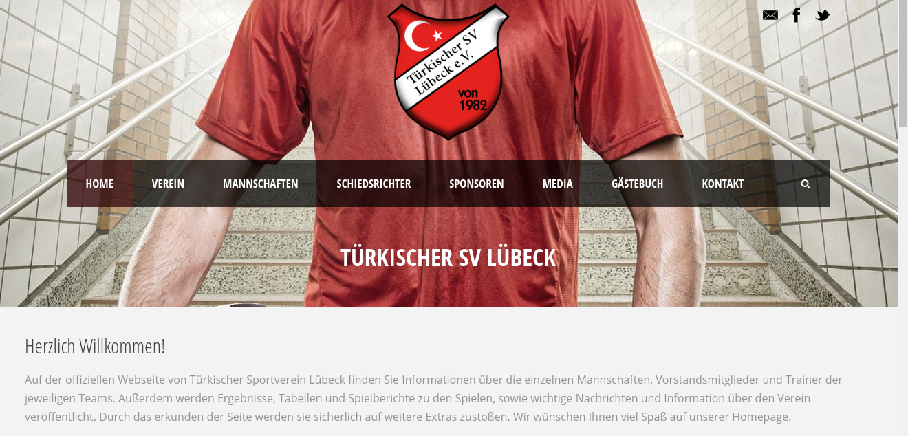 Neue Website des Türkischer SV Lübeck