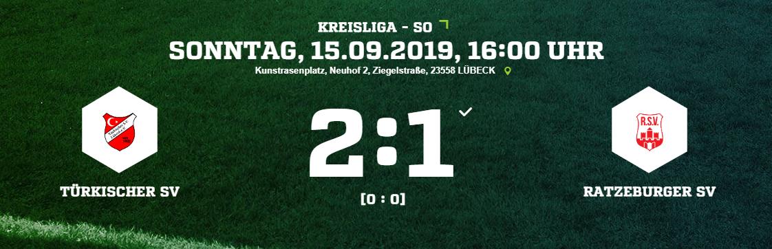 Kreisliga: Türkischer SV - Ratzeburger SV